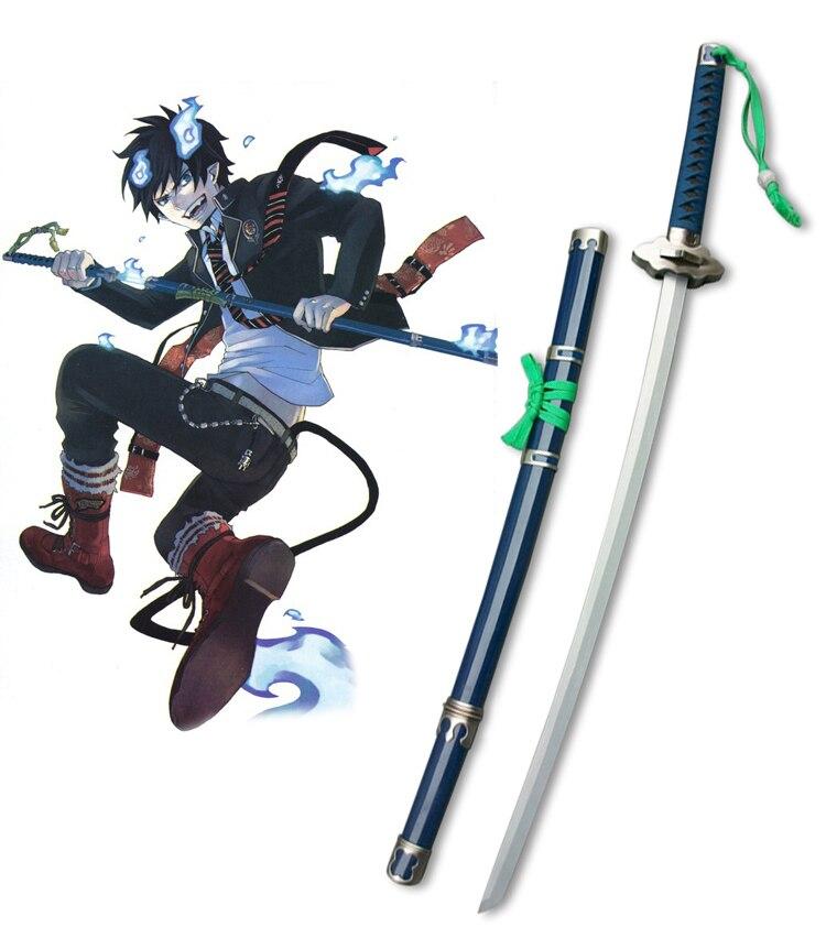 Free Shipping Blue Exorcist  (Ao no Exorcist) Okumura Rin Demon-slaying Blade Kurikara Anime Cosplay Wooden Weapons
