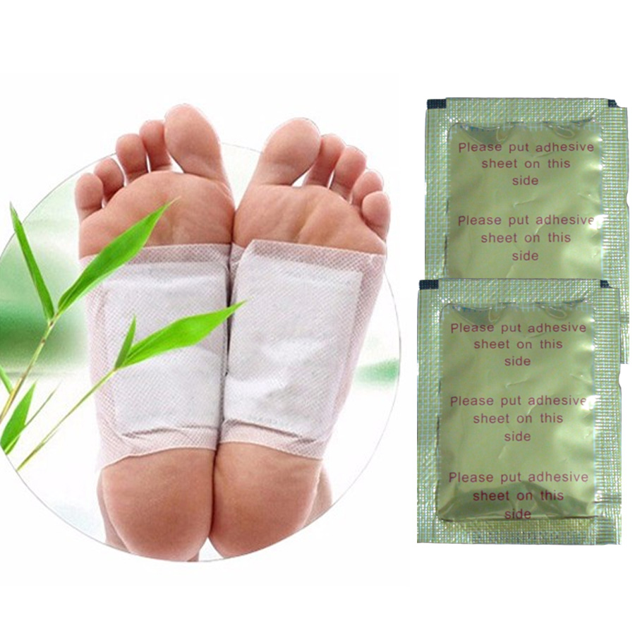 Chinese herbal products - 2pcs Chinese Medicine Paste Detox Foot Patch Foot Pad Slimming Herbal Cleansing The Body Of Toxins