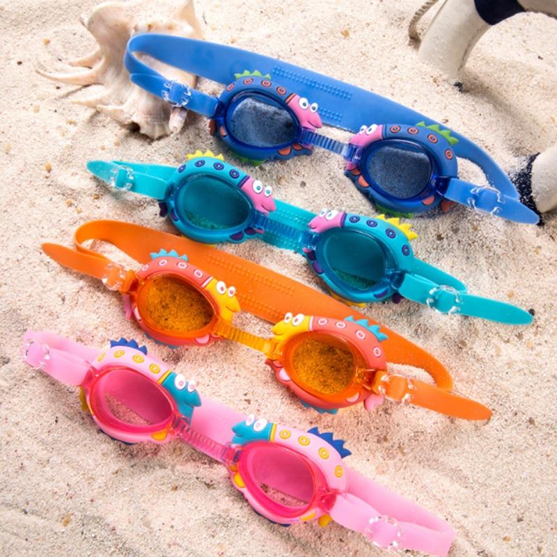 Cartoon Kids Swimming Eyewear Children Silicone Swimming Glasses Baby Child Swim Pool Swimming Goggles with Eyeglasses Box