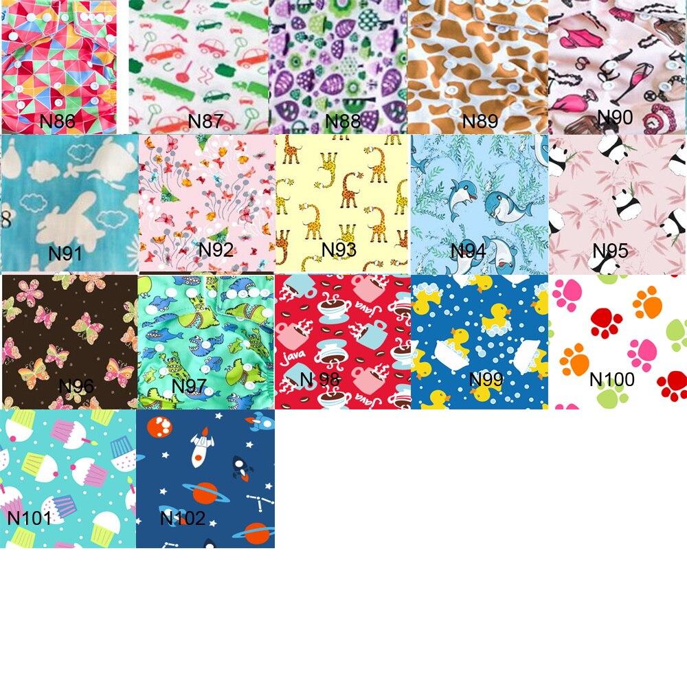 Много милых узорчатых экологичных многоразовых детских тканевых подгузников упакованы 50 шт./лот