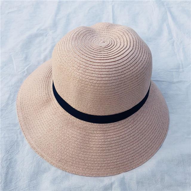 40a2debb Women Straw Hats for Summer Wide Large Brim Floppy Summer Beach Sun Hat  Fedora Panama Straw Hat Snapback Gorras Girls