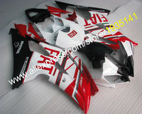 Hot Sales,For Yamaha YZF600 R6 fairing kit red black white YZF R6 08 09 10 11 12 13 14 15 16 Body YZFR6 Set (Injection molding)