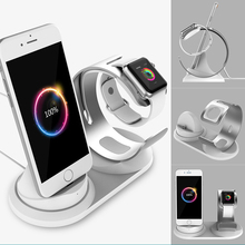 2 in 1 desk phone holder Charging dock station for Apple Watch charger base for iPhone stand table charge phone mobile support the new listing of the exclusive sales of apple mobile phone support iwatch watch charging base high grade plastic free shipping