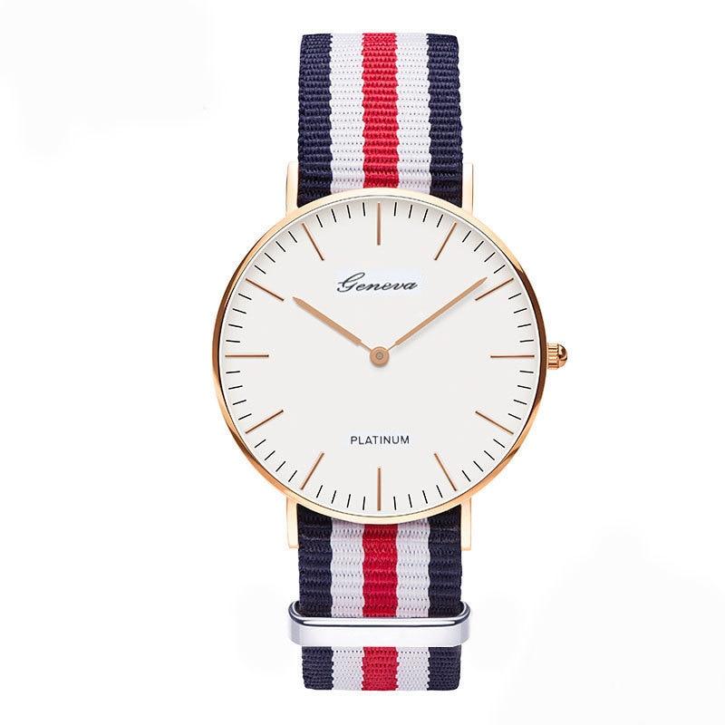 جديد العلامة التجارية الشهيرة الكلاسيكية النايلون حزام الساعات الرجال النساء عارضة كوارتز ساعة أزياء السيدات ووتش relojes hombre relogio feminino