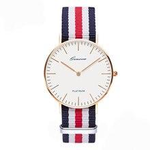 classic brand relogio feminino Geneva casual Quartz watch men women Nylon strap Dress watches Fashion women watch Relojes hombre