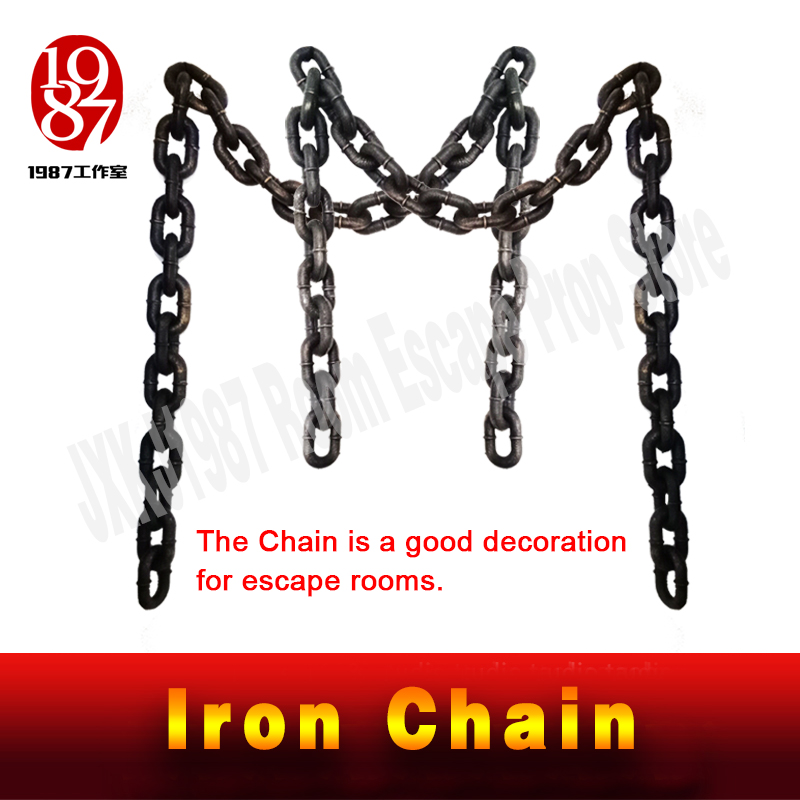 New decoration for escape rooms Iron Chain Plastic chain cosplay game real life room escape prop TAKAGISM Adventurer chamberNew decoration for escape rooms Iron Chain Plastic chain cosplay game real life room escape prop TAKAGISM Adventurer chamber