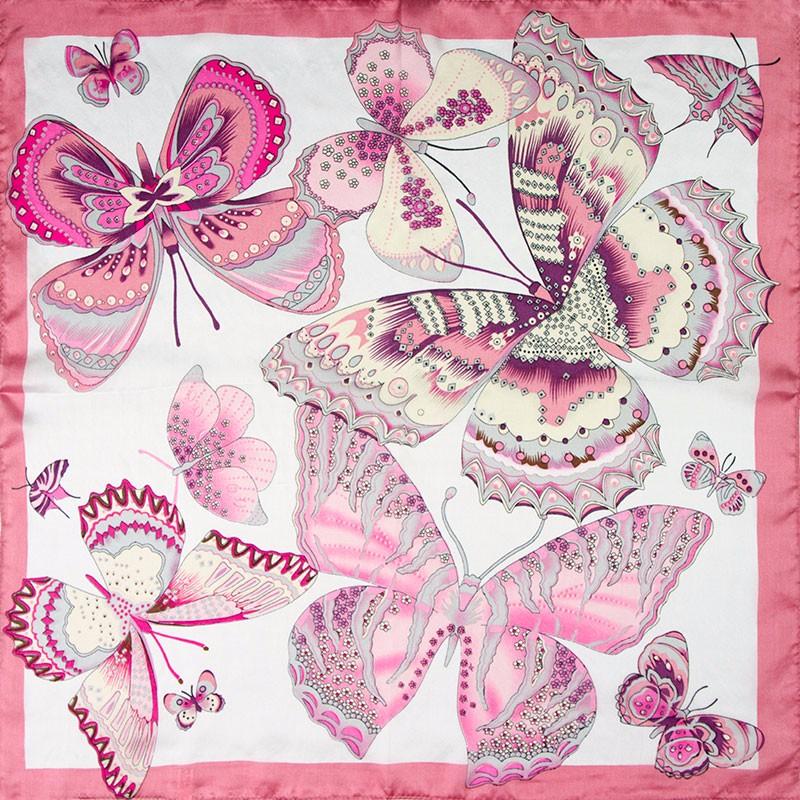 Big Butterflies Silk Neckerchief | Bandana Scarves
