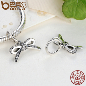 Image 4 - BAMOER 925 Sterling Silver Sparkling Bow Knot Stackable Ring Bridal Jewelry Sets Sterling Silver Jewelry Sets & More ZHS022
