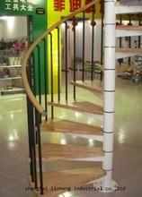 Купить с кэшбэком Made in China hot selling indoor steel-wood spiral staircase(LH-SC004)