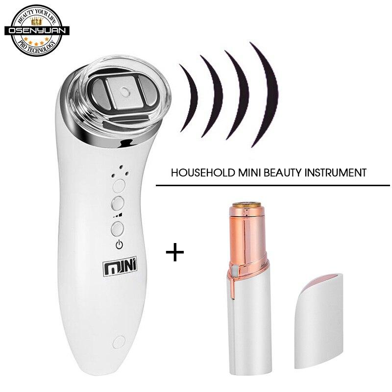 Ultrasonic Bipolar RF Radio Frequency Lifting Face Skin Care Massager Mini Hifu Anti Wrinkle Tightening Device