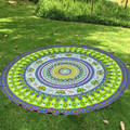 Mandala Beach Chiffon Scarf Printing Flower Beachwear Picnic Round Beach Towel Beach Cover Up Bikini Boho Summer Dress
