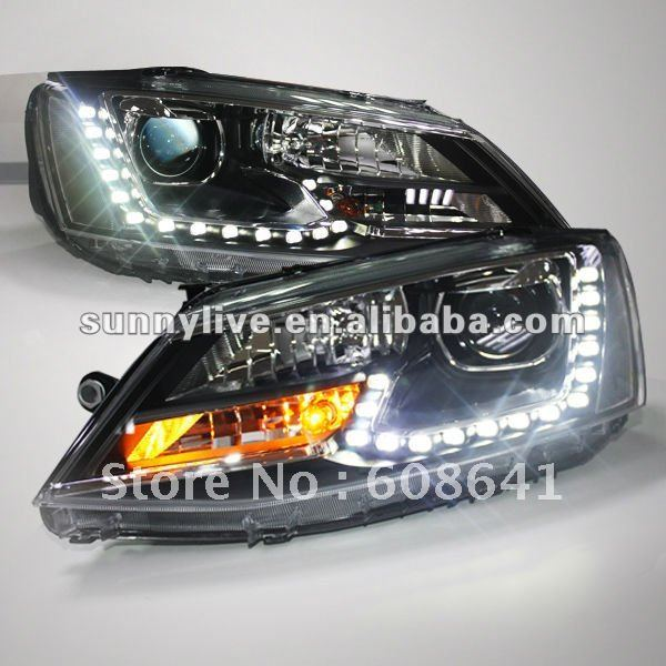 For VW New Jetta Sagitar LED Headlight Angel Eyes 2011 to 12 year
