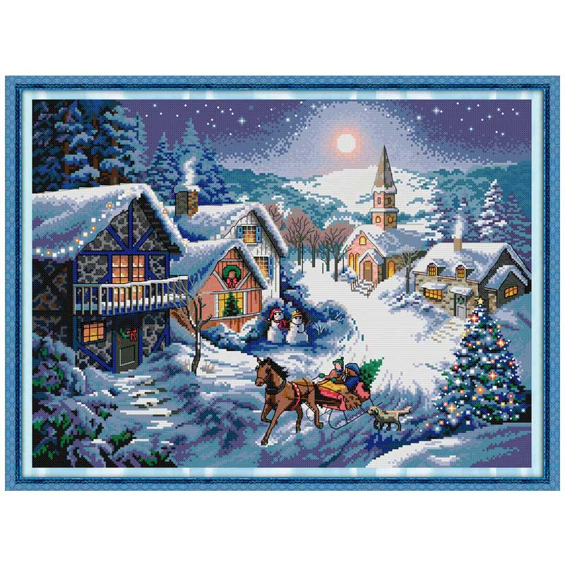 Package Dynamic Everlasting Love Outside The Window Chinese Cross Stitch Kits Ecological Cotton 11ct Stamped Diy Christmas Decorations For Home Discounts Sale