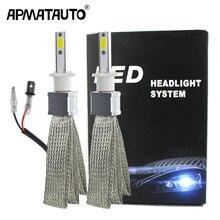 цена на 2pcs 48W 9600LM/set H1 H4 H7 LED H11 H8 HB3 9005 9006 HB4 H9 Car Light Headlight Bulb 6000K 12V 24V Auto Lamp
