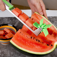 Watermelon Slicer Cutter Tongs Corer Fruit Melon Cut Stainless Steel Watermelon Cubes Tools Kitchen Accessory цены