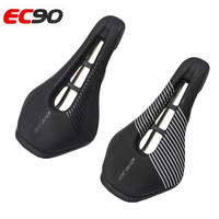 Ec90 Road Bike Saddle Steel Rails Bicycle Cycling Mtb Bike Soft PU Leather Cycling Seat Parts black Bicycle Accessories