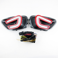 High Quality DRL Daytime Running Lights For Jeep Compass 2013 2015 Red Turn Light Led