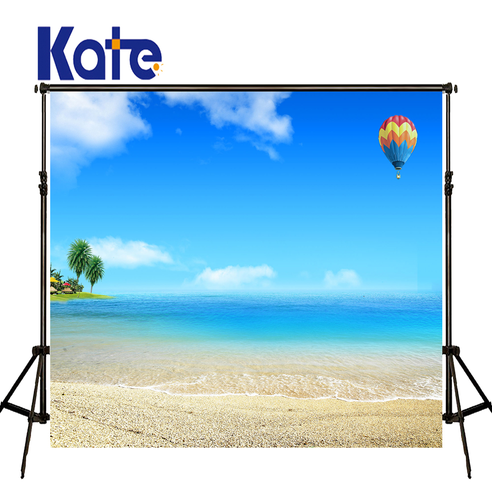 KATE 10ft Photography Backdrops Beach Background Blue Sky Backdrop Summer Scenery Photo Naturism Children Photos for Studio photo background blue sky white clound photography backdrops newborn hot air balloon fly studio photo backdrop