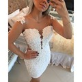 Vestidos De Coctel Appliques Pearls Mini Mermaid Robe De Cocktail Sheer Back Sexy Cocktail Dresses 2017 Christmas Party Dresses