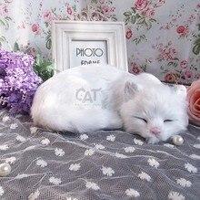 Simulation cat polyethylene&furs cat model funny gift about 21cmx17cmx6cm
