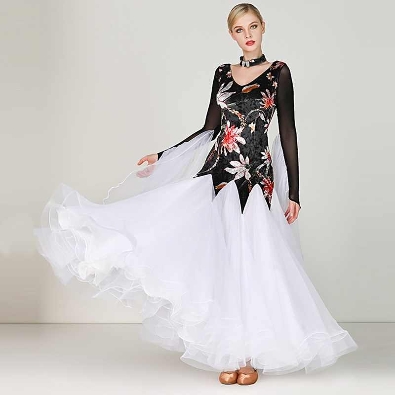 Dama De Vestido De Baile Vestido Niñas Cálido Moderno Trajes De Baile Mujer Estándar Nacional De Baile Vestido De Baile Vals Traje D0833