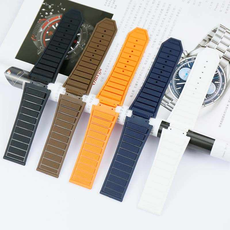 Watch accessories For Hublot Big Bang rubber strap 19mmx29mm ladies outdoor sports diving men's silicone strap