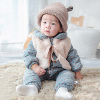 Brand Winter Style Thick Warm Baby Rompers Baby Boy Girls Jumpsuit Infants Rompers Newborn Baby Clothes