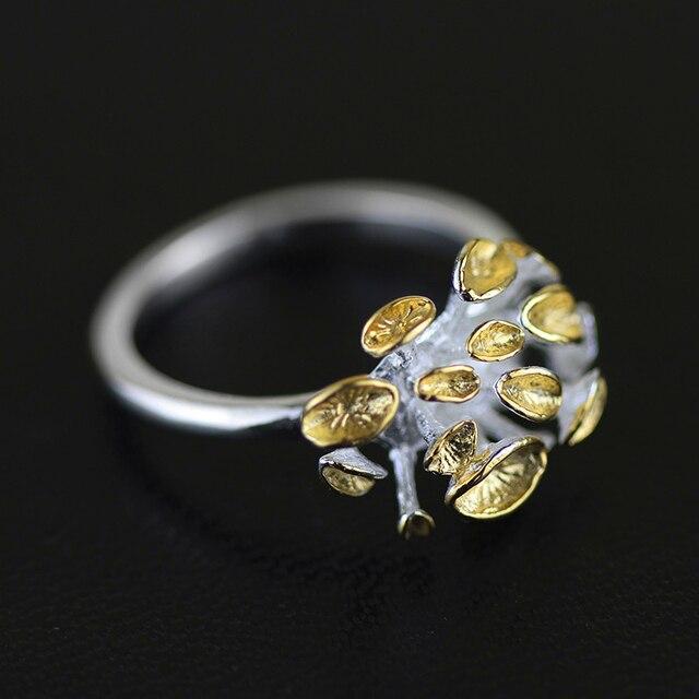 эксклюзив ручная работа этнические бижутерия кольцо цветок для женщин  серебро 925 мода аксессуары женские новый год украшения необычные   распродажа ретро бижутерия сверхъестественное