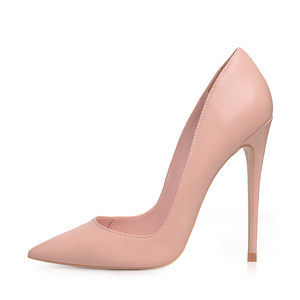 Image 4 - GENSHUO Sexy Nude Heels Pumps For Women 12CM High Heels Shoes Woman Stiletto Pointed Toe Womens Shoes Sexy Party Wedding Shoes