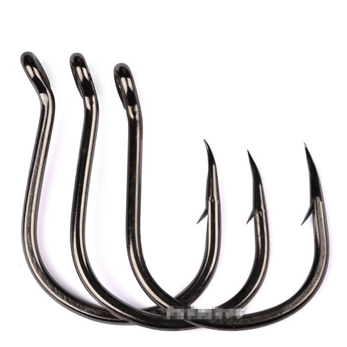 100Pcs Hi-Carbon Steel Barbed Hook Sharpened Kudako Power Jigging Single Hook Tackle 1/0-6/0 Saltwater Freshwater Fishhooks