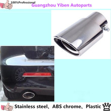 car muffler exterior end black pipe dedicate stainless steel exhaust tip tail panel lamp hood outlet for MAZDA 3 Mazda3 M3 1pcs
