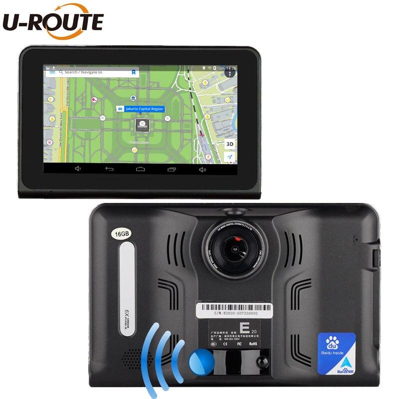 """imágenes para Wifi Androide Del Coche Del Vehículo DVR Cámara de Navegación GPS Detector de Radar DashCam 7 """"HD1080P Videocámara Grabadora de Vídeo de Pantalla Completa 16 GB"""