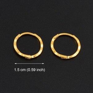 Image 2 - Anniyo 12 pares/diâmetro 1.5 cm marshall primavera anel brincos cor do ouro para mulheres meninas kiribati jóias micronésia presentes #163306