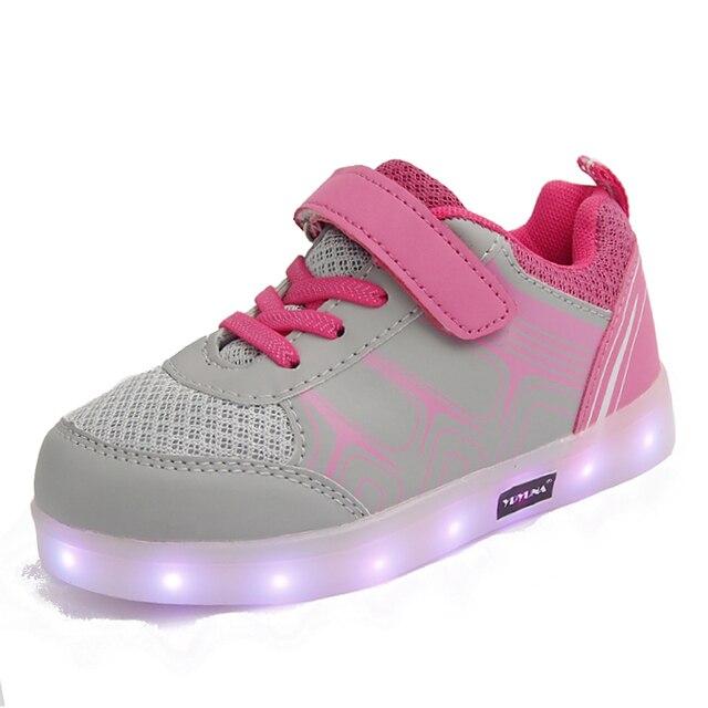 separation shoes 0bf57 204fa US $16.98 |Eur25 37//USB lade kinder korb led schuhe kinder mit leuchtet  glowing beleuchtete schuhe für mädchen & jungen leucht turnschuhe in ...