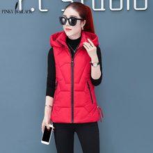PinkyIsBlack Autumn Winter Vest Women Cotton 2019 New Short Fashion Waistcoat Hooded Female Casual Coat Plus size S-3XL