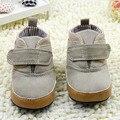 Впервые Ходунки Хлопок Лодыжки детские ботинки Холст Мягкая Высокая Детская Кровать В Обуви Тапки