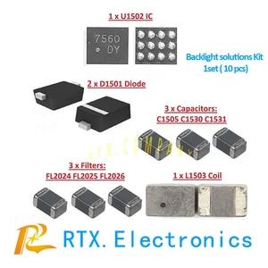 Image 2 - 5 סט (50 pcs) תאורה אחורית ערכת פתרונות עבור IPhone 6 6 בתוספת IC U1502 + סליל L1503 + דיודה D1501 + קבלים c1530/ 31/05 + מסנן F2024/25/26