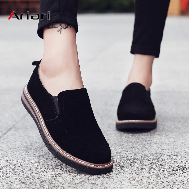 Ariari 2019 loafers shoes women slip-on sneakers genuine leather walking