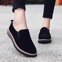 Ariari 2019 loafers shoes women slip on sneakers genuine leather walking shoes female ballet flats oxfords women casual shoes