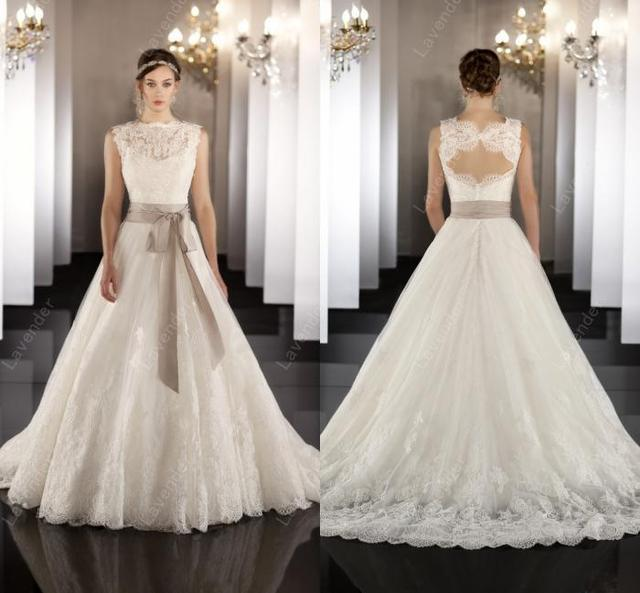 Bridal Gown 2015 Undeniably Sophisticated Lace A Line Wedding Gown
