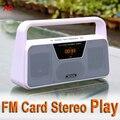2016 Nueva A9 TECSUN FM Estéreo Radio Recepción LED Pantalla Digital Reproductor de MP3 Computer Speaker Radio Receptor de Radio Portátil