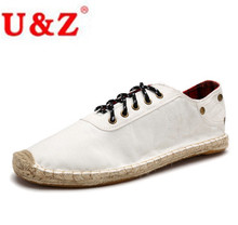 2017 Canvas Denim Espadrilles Driving Shoes for Men (white/blue/black) match your Jeans,Popular Casual Loafers Flats Eu38-Eu45