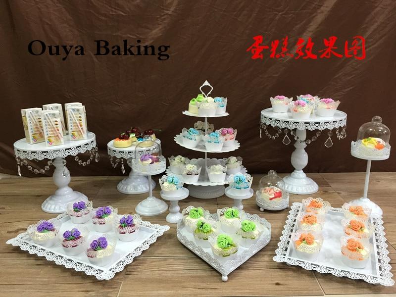 12pcslot Wedding White Iron Cake Stand Party Cake Decoration
