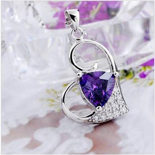 Collares Collier Qi xuan_фиолетовый камень кулон ожерелье_ Настоящее ожерелье_ Качество прямые ed_производитель прямые продажи
