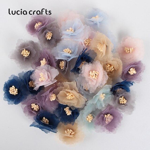 10/20pcs 2.5/3/4cm Artificial Flower Silk Flower Head For DIY Wedding Party Home Decorations Floral Wreath Scrapbook Craft B1002