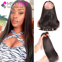 Peruvian Straight Virgin Hair 360 Lace Frontal With Bundle Peruvian Virgin Hair With Closure Lace Frontal Closure With Bundles