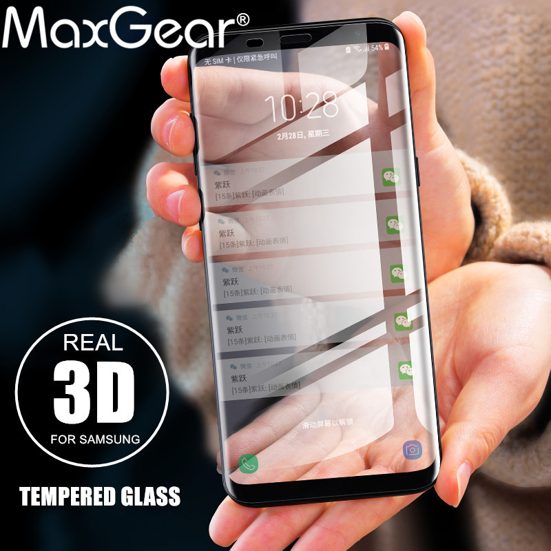 9H Tempered Glass For Samsung Galaxy S8 Plus Glass Note 8 S9 Screen Protector Film For Samsung S6 S7 edge Full Cover Glass Film ...