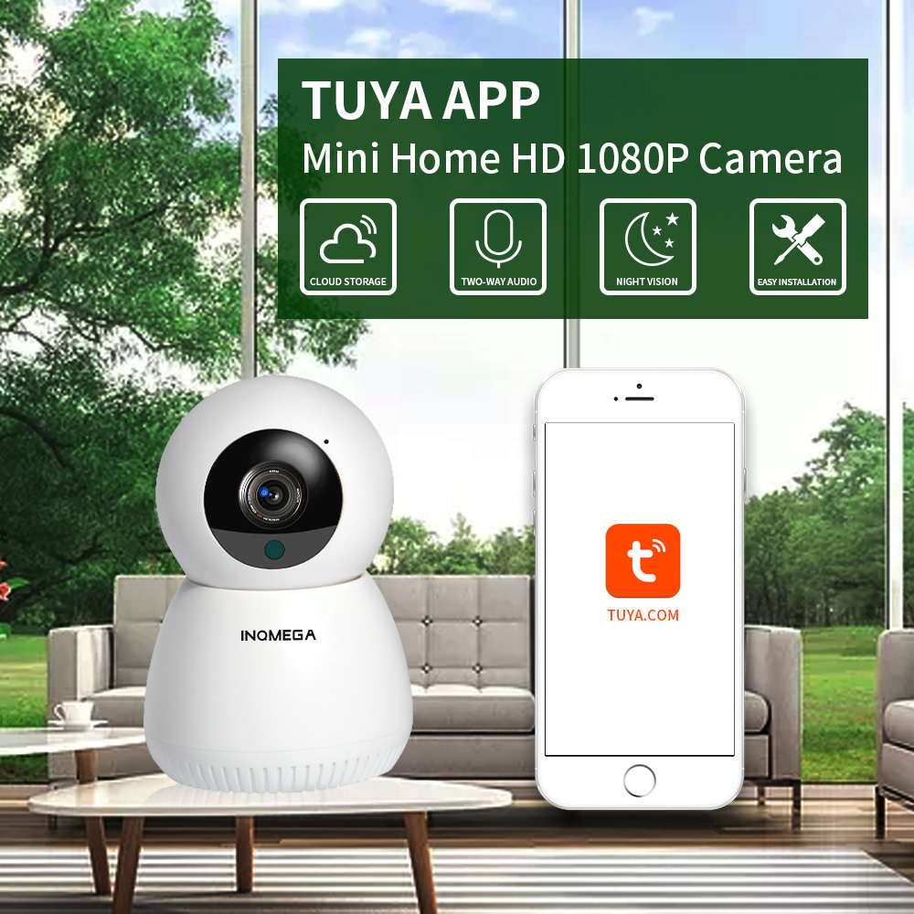 INQMEGA 1080P 720P IP Kamera WiFi Wireless Mini Smart Home Security CCTV Kamera Zwei-weg Audio Nacht vision Baby Monitor APP TUYA