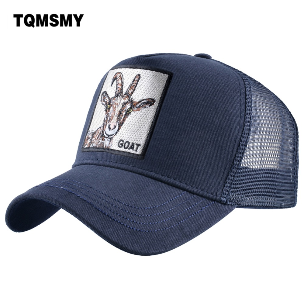 Trucker Hat Cap Foam Mesh All I Care About Are Goats Maybe 3 People
