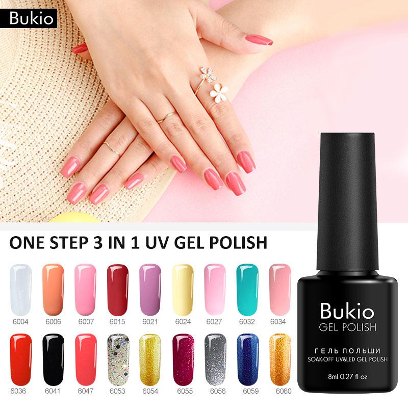 Bukio One Step 3 in 1 Nail Polish French style Nail Art professional ...